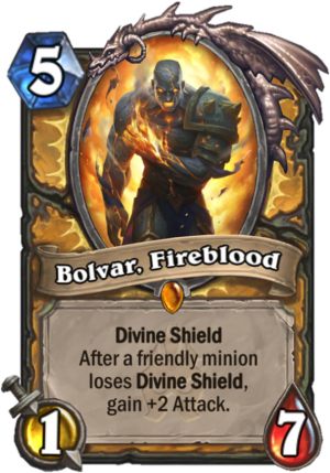 Bolvar, Fireblood Card