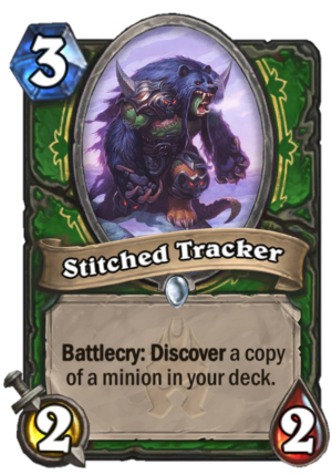 Stitched Tracker Card