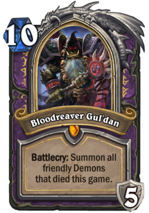 Bloodreaver Gul'dan Card