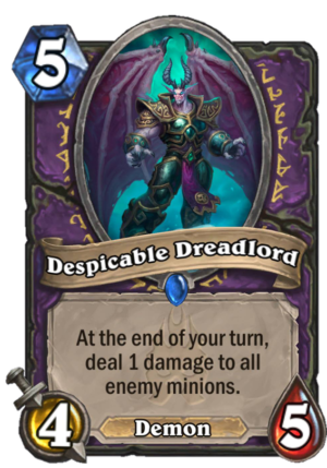 Despicable Dreadlord Card