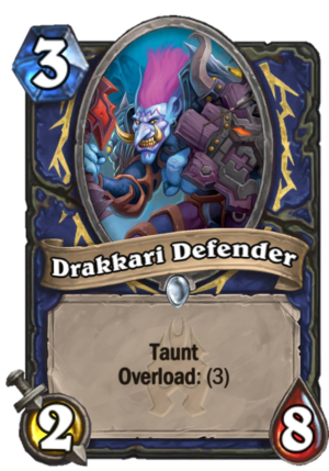 Drakkari Defender Card
