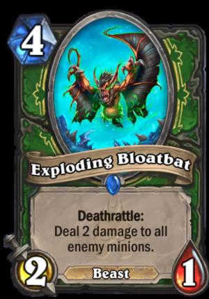 Exploding Bloatbat Card