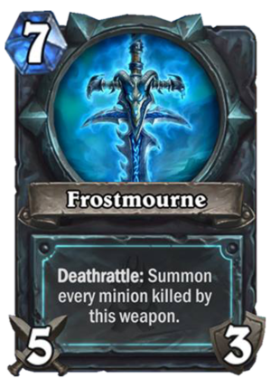 Frostmourne Card
