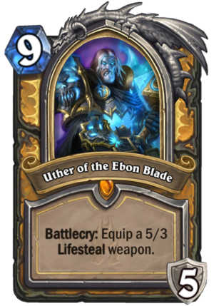 Uther of the Ebon Blade Card