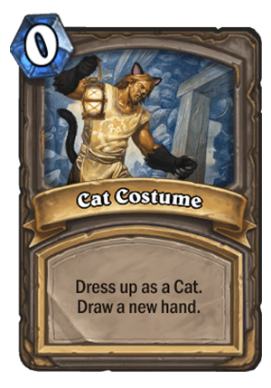 Cat Costume Card