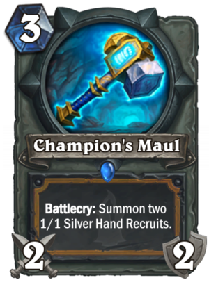 Champion's Maul Card