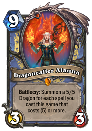 Dragoncaller Alanna - Hearthstone Card - Hearthstone Top Decks