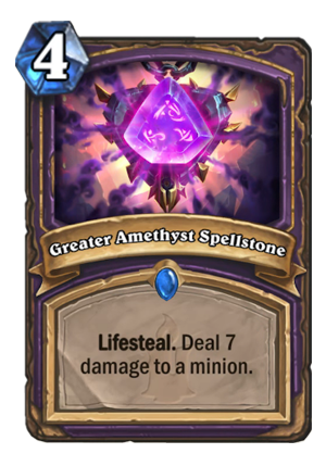 Greater Amethyst Spellstone Card