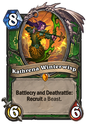 Kathrena Winterwisp Hearthstone Card Hearthstone Top Decks