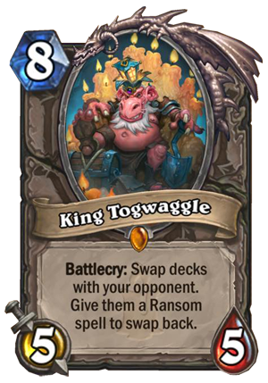 King Togwaggle Card