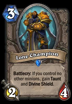 Lone Champion Card