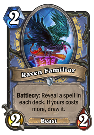Raven Familiar Card