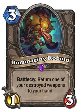 Rummaging Kobold Card