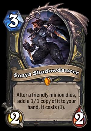 Sonya Shadowdancer Card