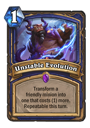 Unstable Evolution Card