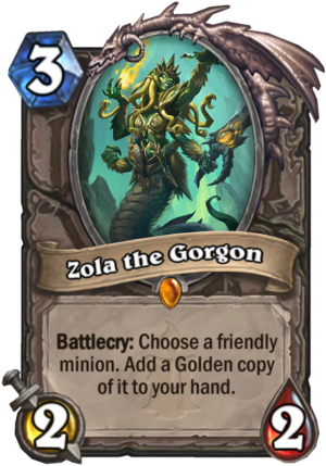 Zola the Gorgon Card