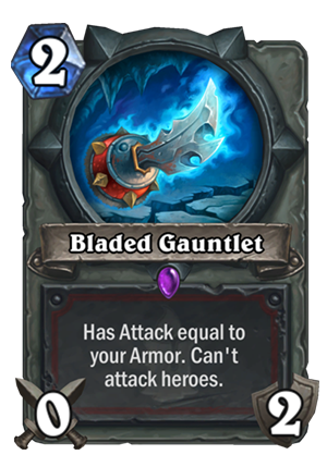 Bladed Gauntlet Card