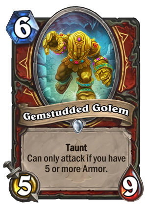 Gemstudded Golem Card