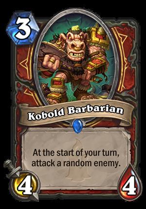 Kobold Barbarian Card