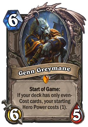 Genn Greymane - Hearthstone Card - Hearthstone Top Decks