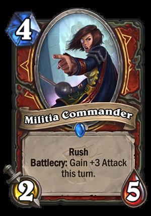 Militia Commander Card