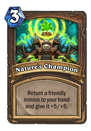 Nature's Champion Card