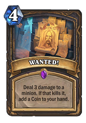 WANTED! Card