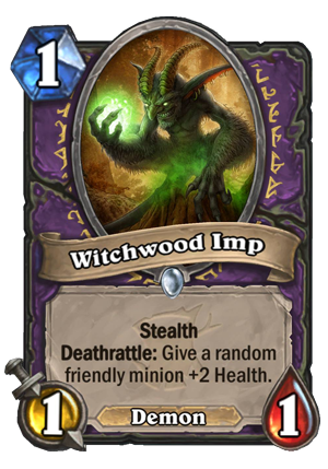 Witchwood Imp Card