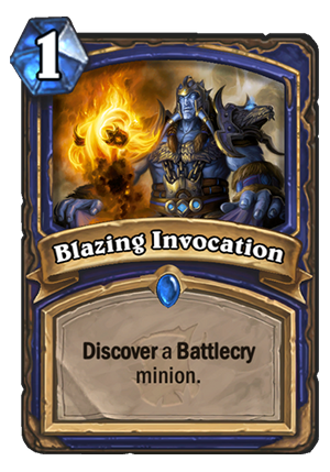 Blazing Invocation Card