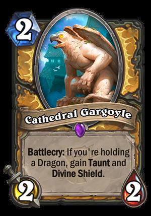 Cathedral Gargoyle Card