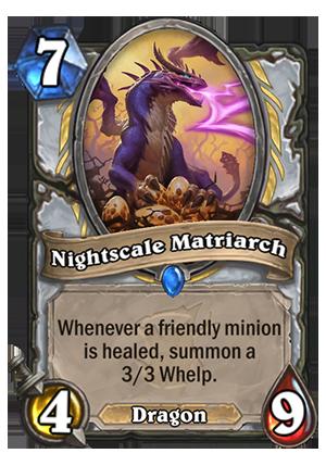 Nightscale Matriarch Hearthstone Card Hearthstone Top Decks