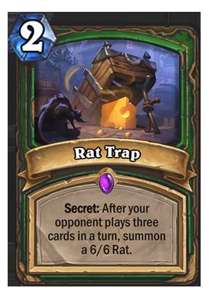 Rat Trap Hearthstone Card Hearthstone Top Decks