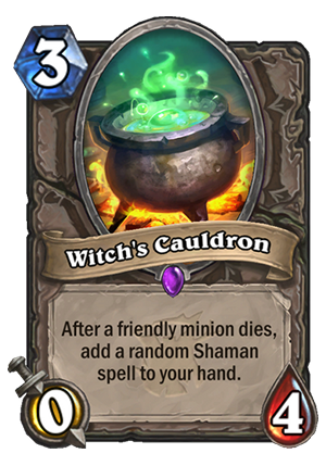 Witch's Cauldron Card