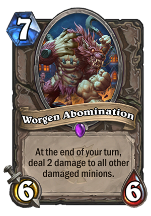 Worgen Abomination Card