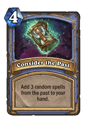 Consider the Past Card