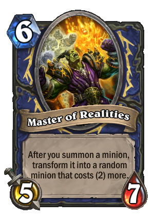 Master of Realities Card