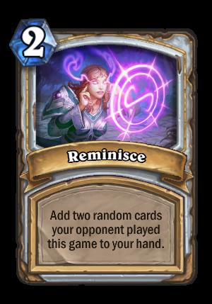 Reminisce Card