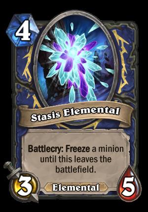 Stasis Elemental Card