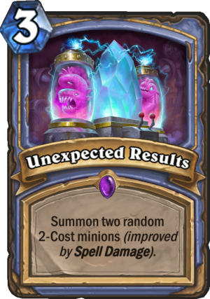 Unexpected Results Card