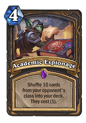Academic Espionage Card