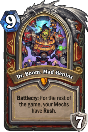 Dr. Boom, Mad Genius Card