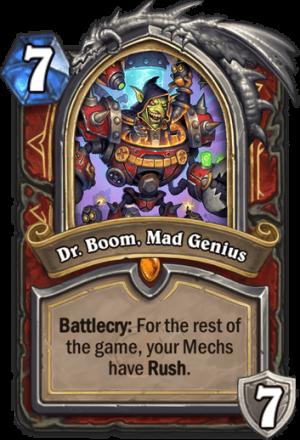 Dr. Boom, Mad Genius Card
