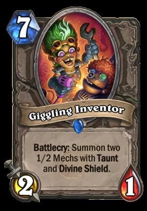 Giggling Inventor Card
