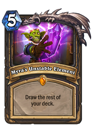 Myra's Unstable Element Card