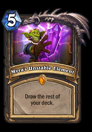 Myra's Unstable Element Card