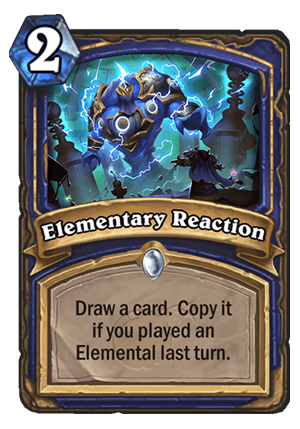 Elementary Reaction Card