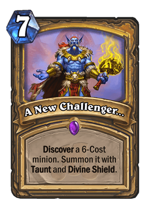 A New Challenger… Card