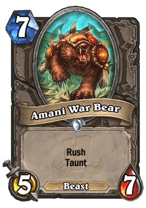 Amani War Bear Card