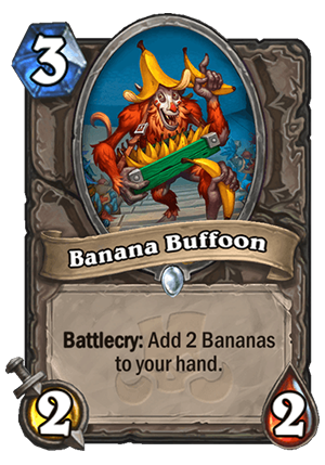 Banana Buffoon Card