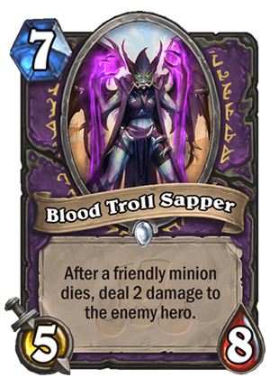 Blood Troll Sapper Card